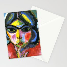 "Alexej von Jawlensky ""Pensive woman"" 1913 Stationery Cards"