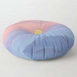 December's Cold Moon Floor Pillow