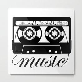 Walk The Walk Music Tape (1) Metal Print
