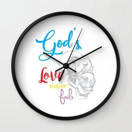God's love bible jesus loves god religion crusader Mission Sign Wall Clock