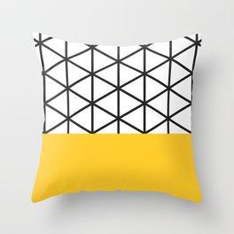 Yellow Isodictial Throw Pillow