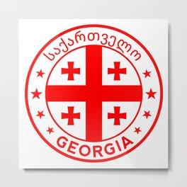 Georgia design with flag of Georgia. country Metal Print