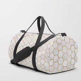 Geometric Hexagonal Pattern Duffle Bag