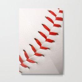 Baseball Macro Photo Metal Print