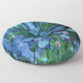 Claude Monet Water Lilies / Nymphéas deep Floor Pillow