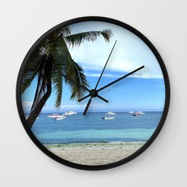 Summer Boats Wall Clock