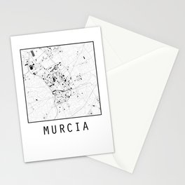 Murcia, Spain, city map Stationery Cards