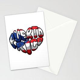 Puerto Rico Heart - Boricua Love Stationery Cards