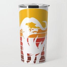 Retro Buffalo Travel Mug