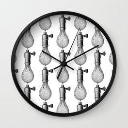 Vintage Light Bulbs Neck Gator Electrical Light Bulb Wall Clock