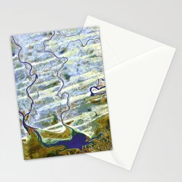 Geography Abstract Stationery Cards