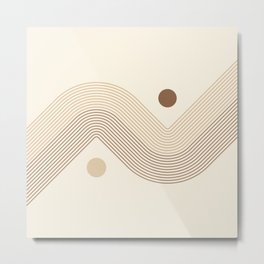 Geometric Lines in Neutral Colors 11 Metal Print
