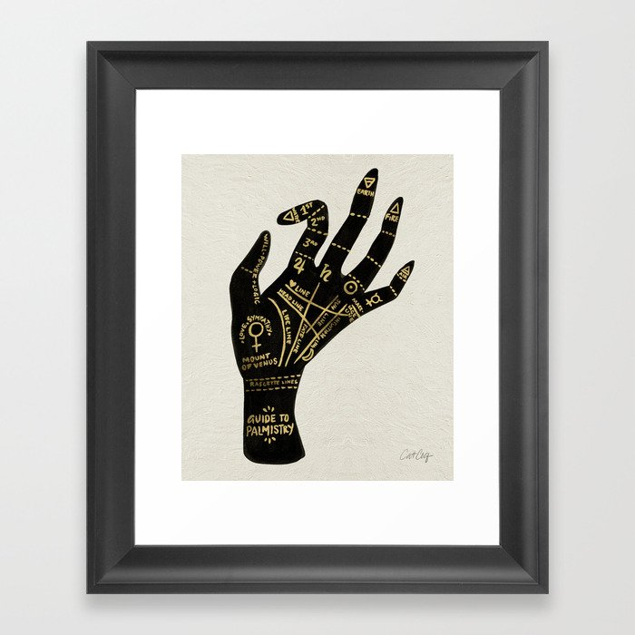 Palmistry Gerahmter Kunstdruck