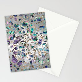 Terrazzo - Mosaic Abalone Pearl and Gold #3 Stationery Cards