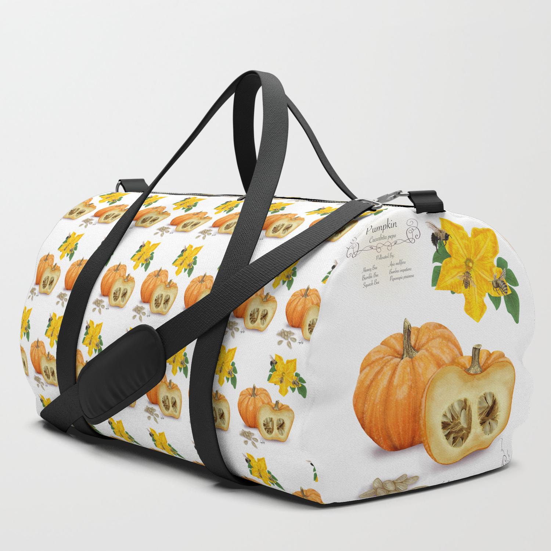 Travel Gym Fitness Bag Pumpkin Round Duffel Sports Bags