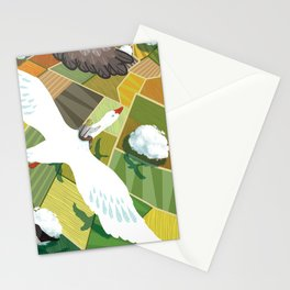 Nils With Wild Geese Stationery Cards