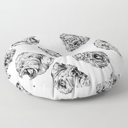 Gorilla pattern wild gorilla head all over pattern Floor Pillow