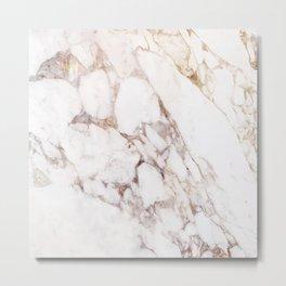 Onyx White Marble Metal Print