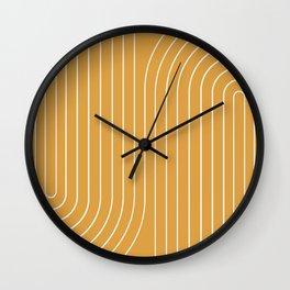 Minimal Line Curvature VIII Wall Clock