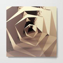 Multifaceted - Gold Metal Print