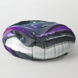 Purple Challenger Hellcat Demon color photograph / photography / poster Floor Pillow