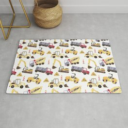 Construction Machines Rug