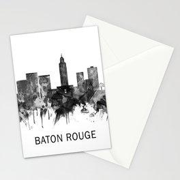 Baton Rouge Louisiana Skyline BW Stationery Cards