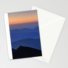 Sierra Nevada. Sunset at the mountains. Astronomical Observatory at 3000 meters Stationery Cards