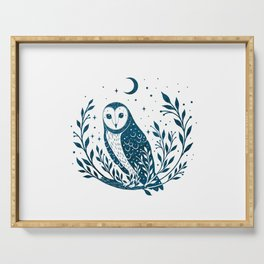 Owl Moon - Blue Serving Tray