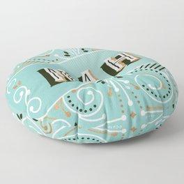 Nah – Mint & Rose Gold Palette Floor Pillow