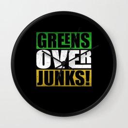 Cheerful Greens Over Junks Wall Clock