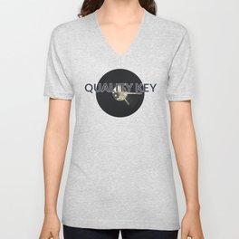 Quality Key: Vinyl Time Unisex V-Neck