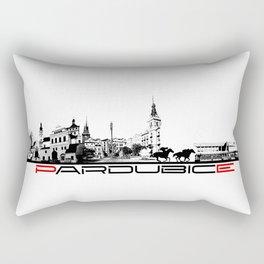 Pardubice skyline city black Rectangular Pillow