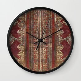 Tarnished Brass Book Cover Wall Clock