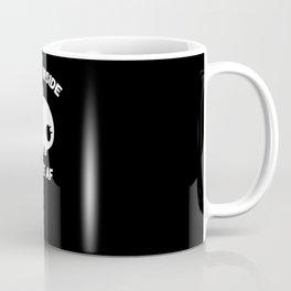 Dead Inside Cute AF Funny Skull Hair Bow Coffee Mug