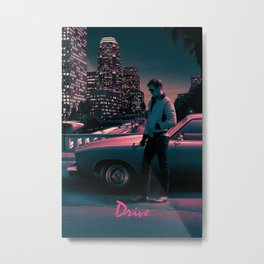 DRIVE-RYAN-GOSLING MOVIE POSTER  Metal Print