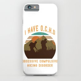 cool climber gift mountaineer t-shirt iPhone Case