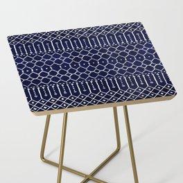 Indigo Dark Blue Farmhouse Moroccan Style. Side Table