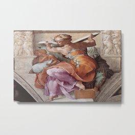 The Libyan Sybil Sistine Chapel Ceiling by Michelangelo Metal Print