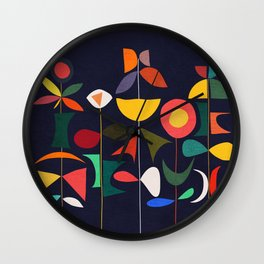Klee's Garden Wall Clock