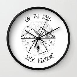 On the road - Jack Kerouac Wall Clock