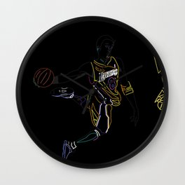 Neon Los Angles Basketball Legend Wall Clock