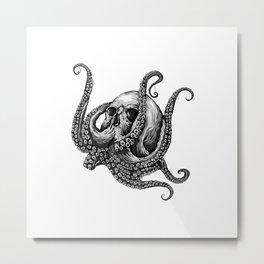 Octopus Sugar Skull Graphic T-Shirt Metal Print