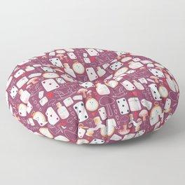 Alice in Wonderland - Purple Madness Floor Pillow