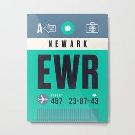 Baggage Tag A - EWR Newark Liberty USA Metal Print
