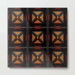 Exclusive geometric ornament with three-dimensional structural effect. Metal Print