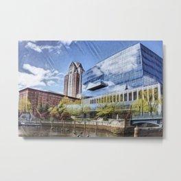 Waterplace Park, Providence Place, Superman Building, Providence, Rhode Island landscape Metal Print