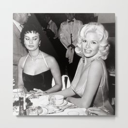 'Best Envy' Iconic Hollywood Starlet Black and White Photograph Metal Print