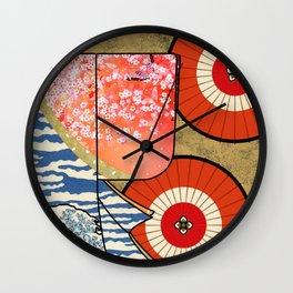 Kimono Japan Wall Clock