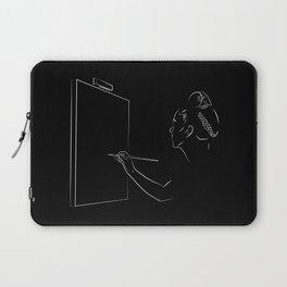 Frida Kahlo Painting Black and White Laptop Sleeve